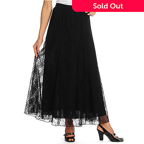 702-190 - Geneology Stretch Lace Full Length Pull-on Skirt
