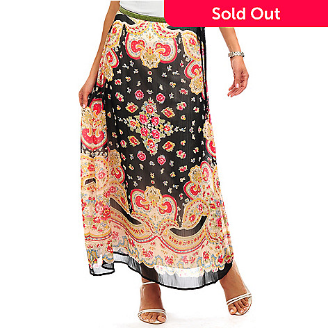 702-239 - Geneology Full Length Printed Skirt