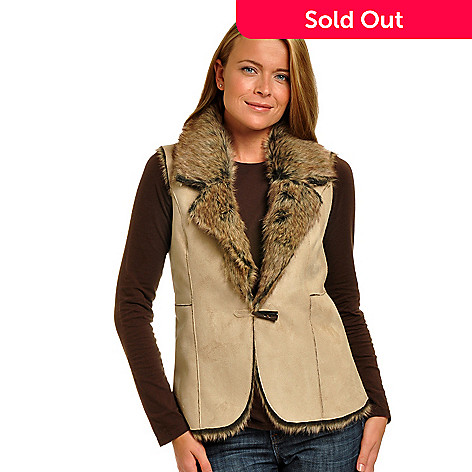 702-270 - Geneology Reversible Faux Suede & Faux Fur Vest