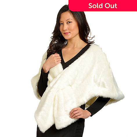 702-493 - Pamela McCoy Pull-Through Mink Faux Fur Stole
