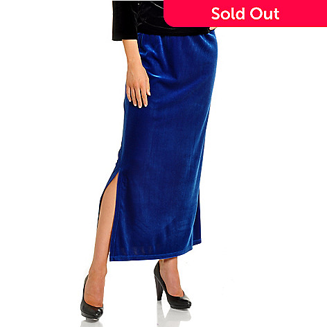 702-593 - aDRESSing WOMAN Pull-On Stretch Velvet Skirt