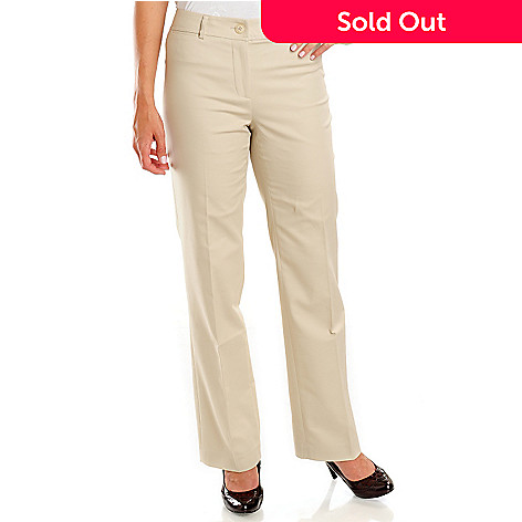 702-659 - Kate & Mallory® Welt Pocket Classic Fit Slimming Woven Pants