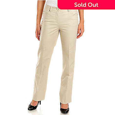 702-661 - Kate & Mallory® Five-Pocket Classic Fit Slimming Woven Pants