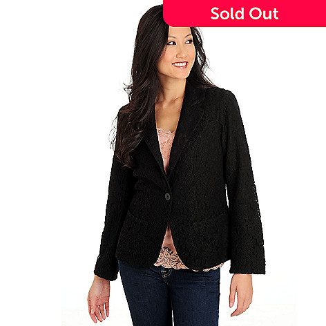 702-675 - WD.NY One Button Front Pocket Lace Jacket