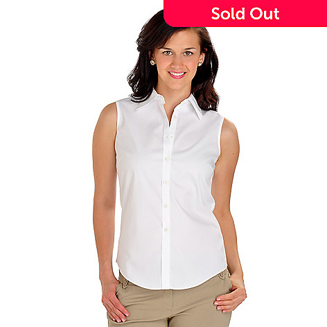 702-912 - Brooks Brothers Sleeveless Fitted Cotton Blouse