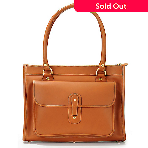 703-304 - Ghurka Women's ''Runabout'' Exterior Pocket Leather Handbag