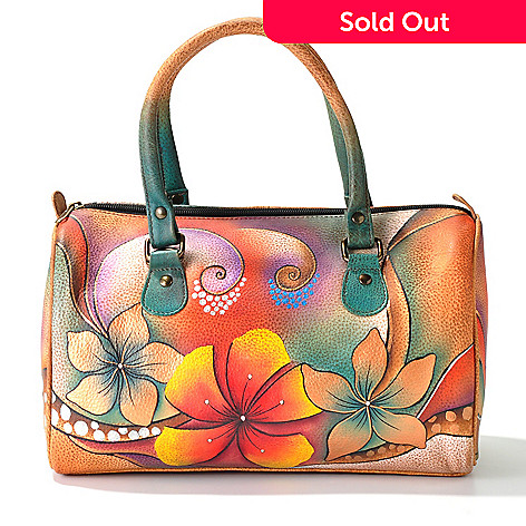 703-362 - Anuschka Hand-Painted Leather East/West Framed Satchel