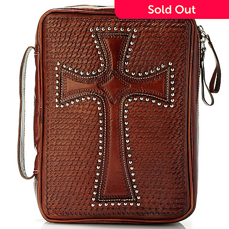 703-701 - American West Hardware Detail Tooled Leather Bible Case