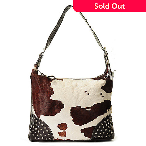 703-707 - American West ''Santa Fe Spirit'' Top Zip Leather Hobo Handbag