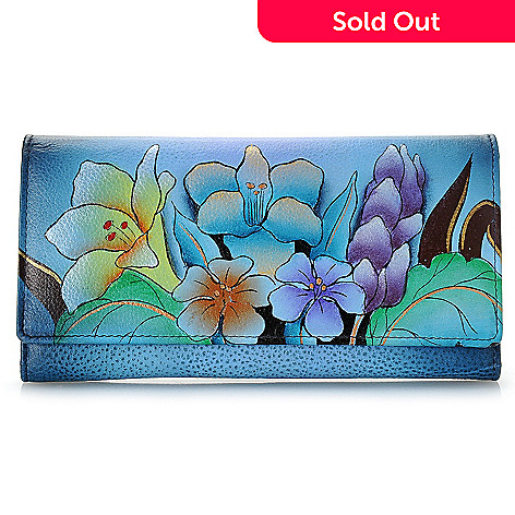 703-790 - Anuschka Hand-Painted Leather Tri-Fold Wallet