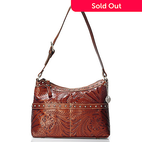 703-968 - American West ''Heartland'' Hand-Tooled Leather Shoulder Bag