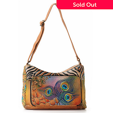 704-077 - Anuschka Hand Painted Leather Twin Top Organizer Bag