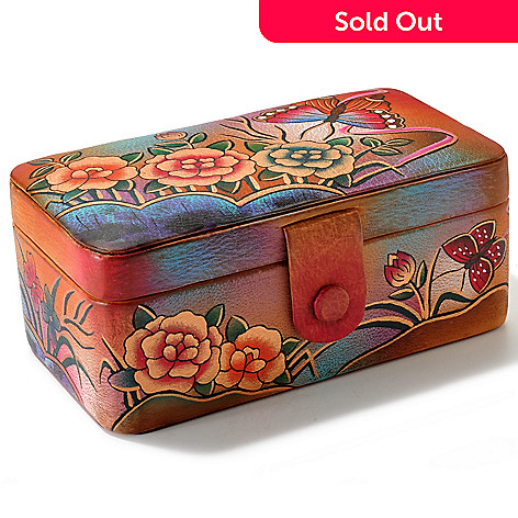 704-251 - Anuschka Hand Painted Leather Jewelry Box
