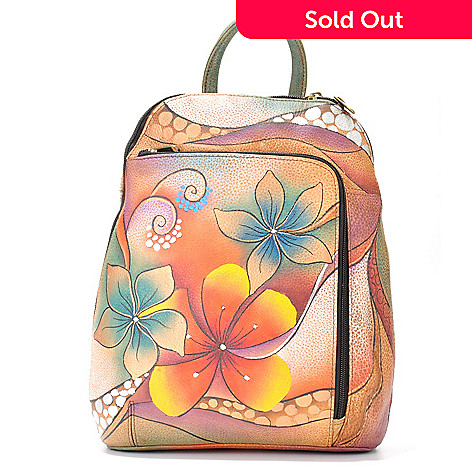704-252 - Anuschka Hand Painted Leather Travel Backpack