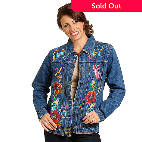 704-303 - Anuschka Hand Painted Denim Jacket