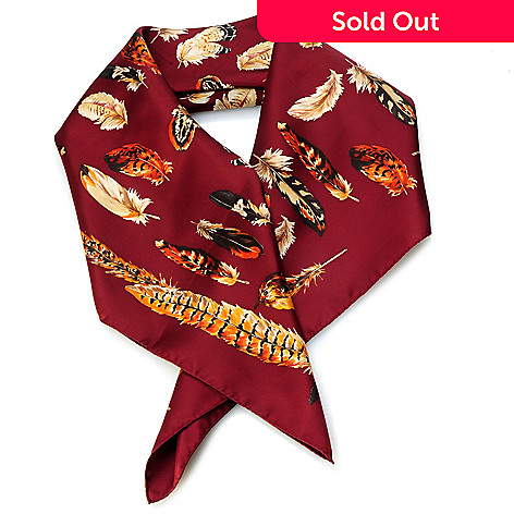704-356 - Brooks Brothers Feathers Print Silk Scarf