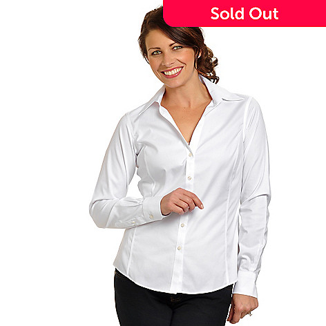 704-374 - Brooks Brothers Stretch Cotton Non-Iron Spago Blouse
