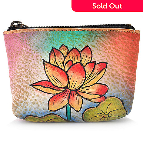 704-400 - Anuschka Hand Painted Leather Coin Purse
