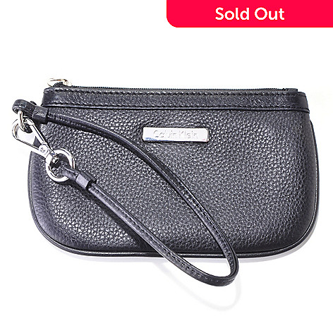 704-410 - Calvin Klein Handbags Leather Wristlet