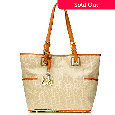 704-411 - Calvin Klein Handbags Logo Jacquard East/West Tote