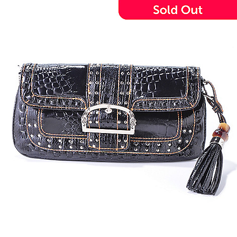 704-426 - Madi Claire ''Keira'' Croco Embossed Leather Shoulder Bag