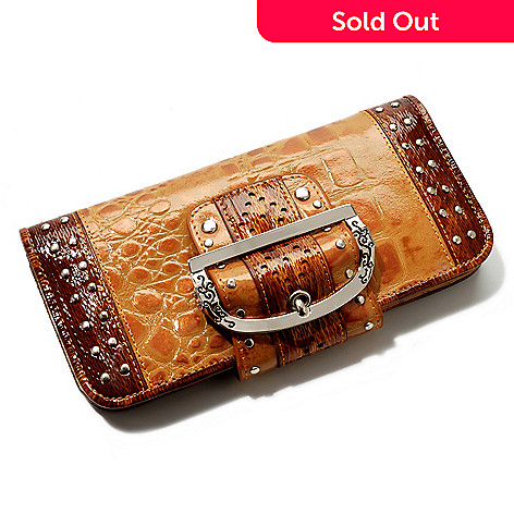704-430 - Madi Claire ''Keira'' Croco Embossed Leather Wallet