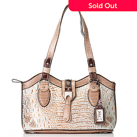 704-437 - Madi Claire ''Stella'' Croco Embossed Leather Tote Bag