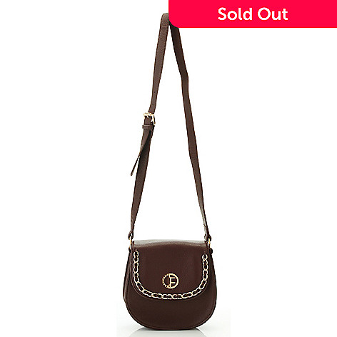 704-472 - Jack French London Pebbled Leather Chain Detailed Cross Body Bag
