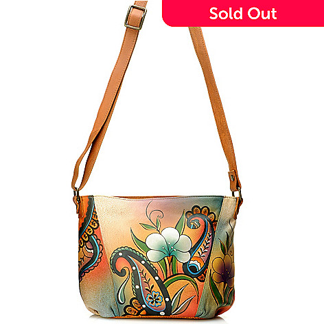 704-545 - Anuschka Hand-Painted Leather Shoulder Bag