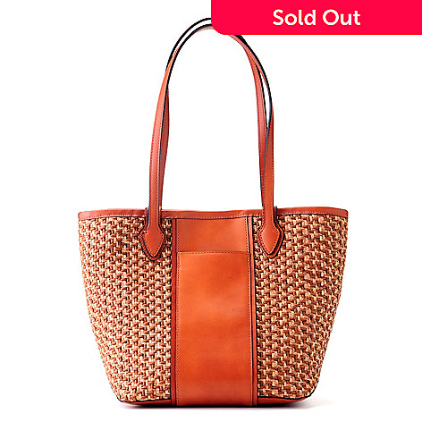 704-567 - Brooks Brothers®  Brown Straw Tote Bag