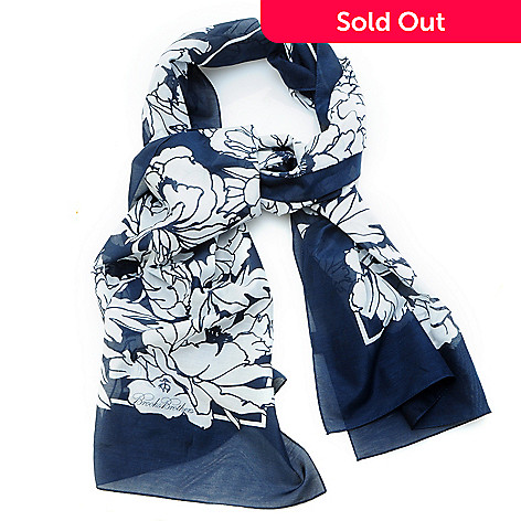 704-572 - Brooks Brothers® Silk & Cotton Graphic Floral Oblong Scarf