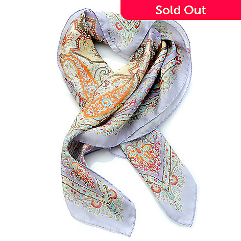 704-573 - Brooks Brothers Paisley Print Silk Habutai Neckerchief