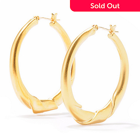 704-574 - Brooks Brothers® Gold Plated Hoop Earrings