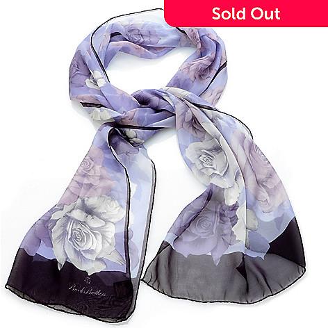 704-582 - Brooks Brothers® Floral Print Silk Chiffon Oblong Scarf