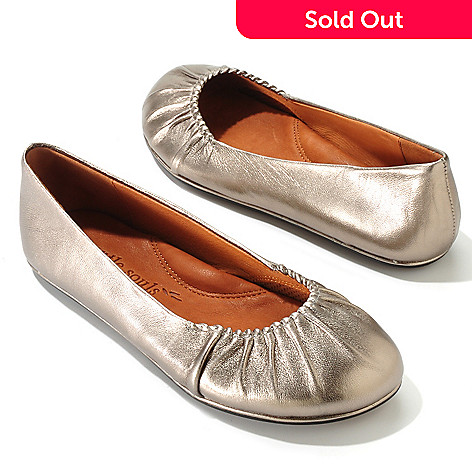 704-599 - Gentle Souls by Kenneth Cole ''Bayside'' Leather Ballet Flats