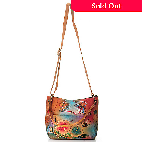 704-634 - Anuschka Hand-Painted Medium Leather Shoulder Bag