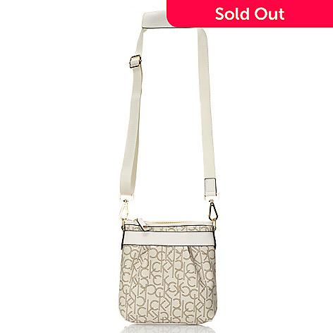 704-659 - Calvin Klein Handbags Logo Coated Canvas Swingpack