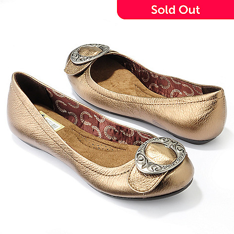 704-674 - Dr. Scholl's ''Scroll'' Memory Foam & Leather Flats