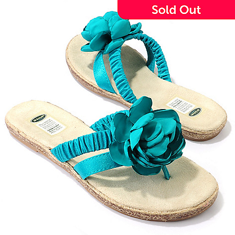 704-676 - Dr. Scholl's® ''Iris'' Satin Flower Memory Foam Thong Sandals