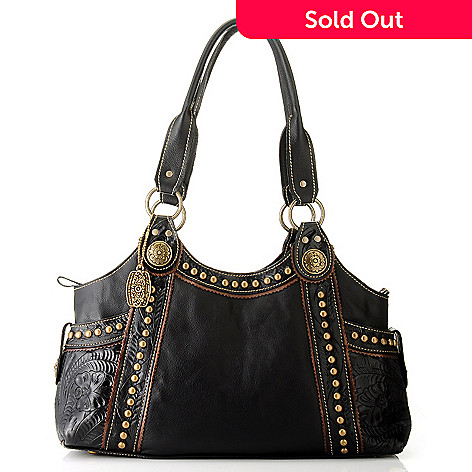 704-695 - American West ''Carry All'' Leather Tote Bag