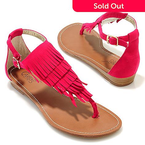 704-719 - Carlos By Carlos Santana ''Trinidad'' Fringe Quarter-Strap Thong Sandals