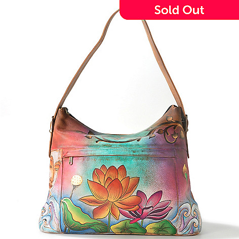 705-225 - ''As Is'' Anuschka Hand-Painted Leather Large Shopper Handbag