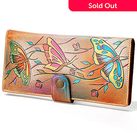 705-902 - Anuschka Hand-Painted Leather Ladies Two Fold Wallet