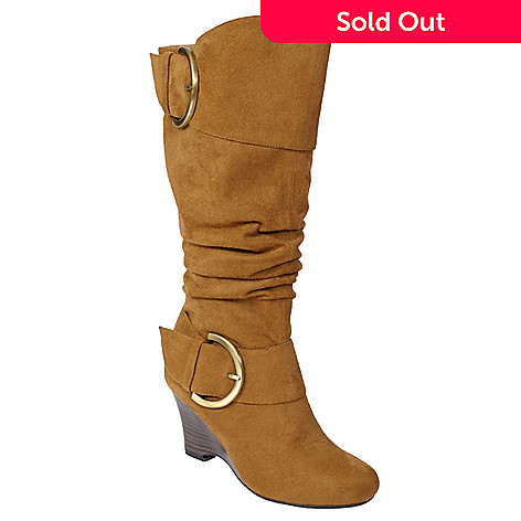 706-780 - Glaze by Adi Women's Buckle Accent Tall Boots