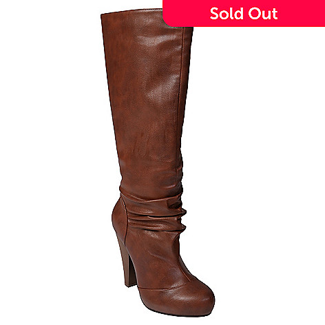706-847 - Journee Collection Hidden Platform Tall Slouch Boots