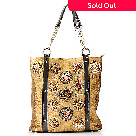 709-209 - Bag Chique Medallion & Rhinestone Detailed Tall Tote Bag