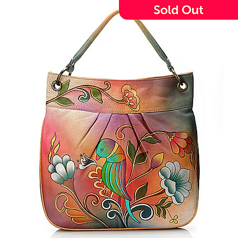 709-215 - Anuschka Hand-Painted Leather Large Convertible Tote