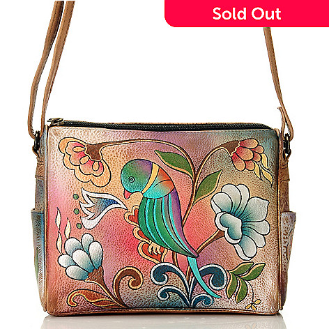 709-219 - Anuschka Hand-Painted Leather Twin Top Convertible Handbag