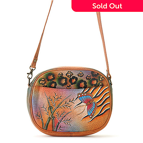 709-221 - Anuschka Hand-Painted Leather Convertible Handbag