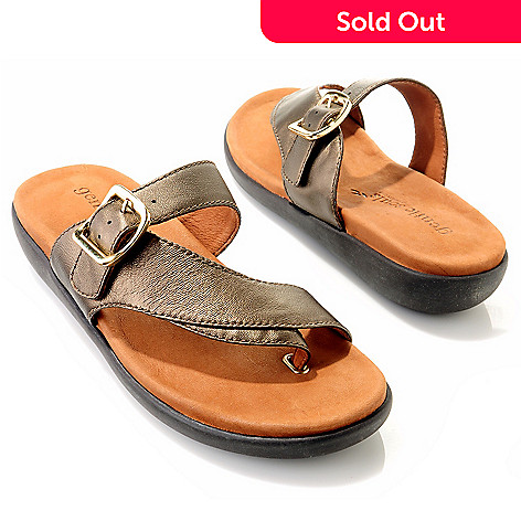 709-410 - Gentle Souls by Kenneth Cole ''Seagol'' Leather Thong Sandals